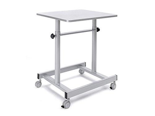 Planning Sisplamo Mesa de Retroproyector Metálica con Altura Ajustable y 4 Ruedas, Metal, Gris, 60.00x55.00x60.00 cm