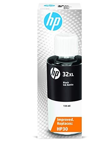 HP 32XL 1VV24AE, Negro, Botella de Tinta de Alta Capacidad Original, compatible con impresoras HP Smart Tank series 400, 500, 600