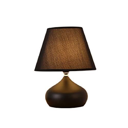 NXYJD Escritorio lámpara de luz Personalidad Blanco y Negro atmosférica lámpara de Mesa, Dormitorio LED de iluminación Interior lámpara de cabecera Decorativo Lámpara de Mesa (Color : Black)