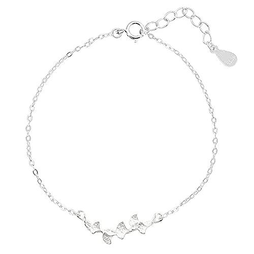 Accesorios de moda de plata Joyería de la suerte Pareja Pulsera de la hoja Pulsera de cadena ajustable