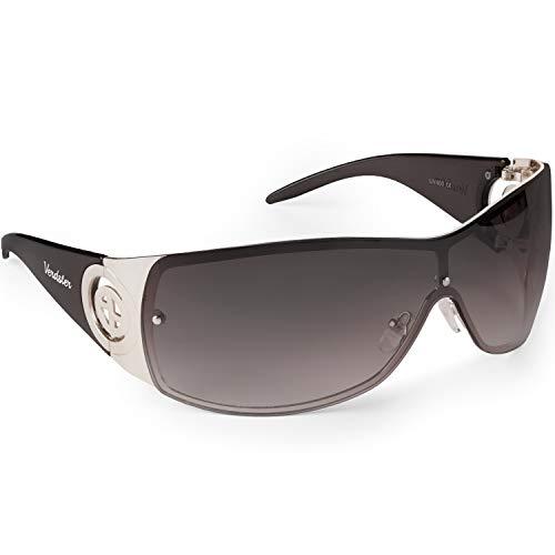 Verdster Cosmo Damen Sonnenrille - Damen Designer-Sonnenbrille mit großen Gläsern