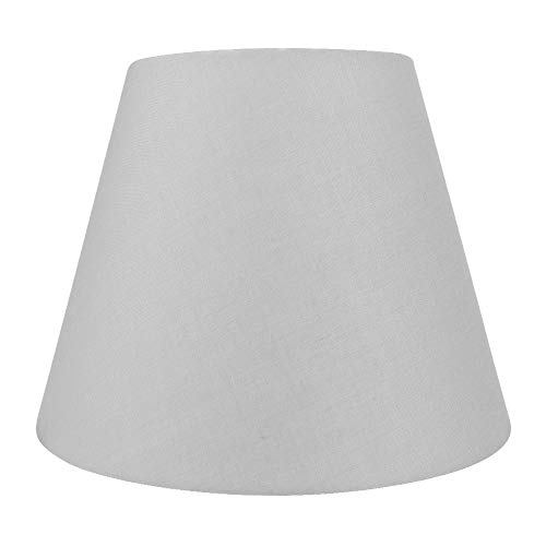 Small Lamp Shade, Alucset Barrel Fabric Lampshade for Table Lamp and Floor Light, 6x10x7.5', Natural Linen Hand Crafted, Spider (Grey)
