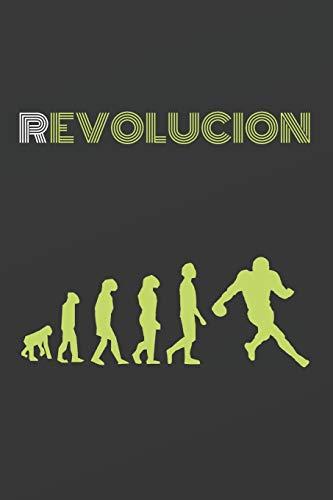 REVOLUCIÓN: CUADERNO DE NOTAS. CUADERNO DE APUNTES, DIARIO O AGENDA. REGALO ORIGINAL PARA AMANTES DEL FÚTBOL AMERICANO.