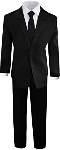 Boys Black Tuxedo Suit with Tie Young Boys Youth Size 18