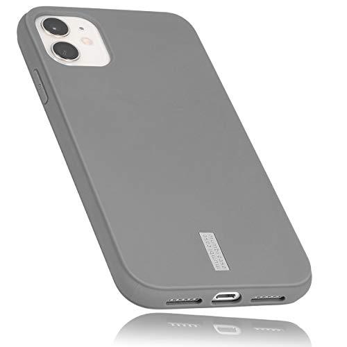 mumbi Hülle kompatibel mit iPhone 11 Handy Hülle Handyhülle, grau mit grauem Streifen