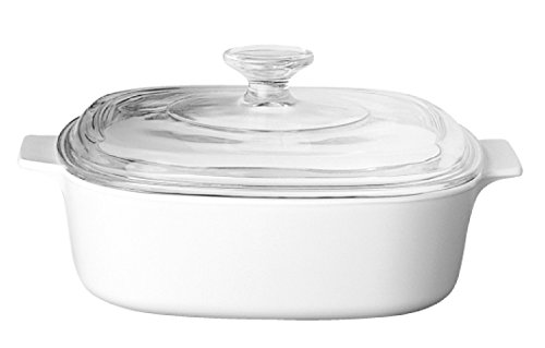 World Kitchen Corningware - Cacerola Cuadrada, de Vidrio Pyr