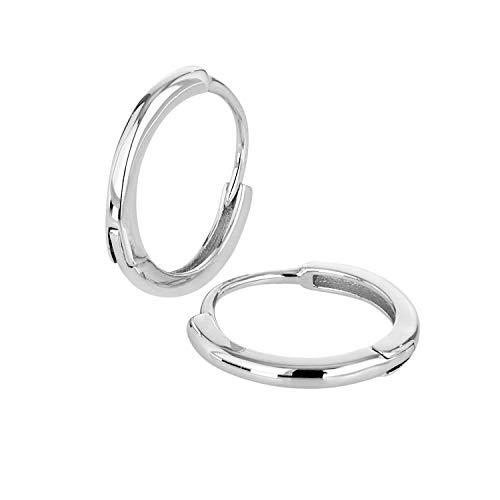Brandlinger ® Atelier Creolen Gold für Damen aus vergoldetem 925 Sterling Silber. Hochwertige Ohrringe mit Durchmesser 15 mm