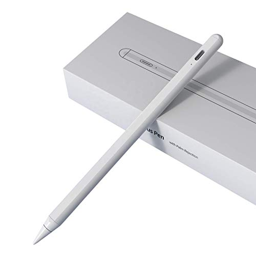 Stylus Pen P6 - Colour White - Magnetic - Compatible with Apple - Palm Rejection - Included Replacement Tip