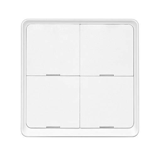 KESOTO Interruptor de luz inteligente WiFi, Control remoto de interruptor de pared inteligente Wi-Fi, fácil instalación (4 bandas)