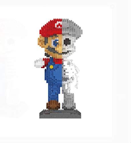 Mary Super Mario Bros Brothers Mini Bloques Cabezas de Ladrillos Figura de acción Juguetes 22 cm, Juguetes educativos creativos Decoración del Coche Familiar