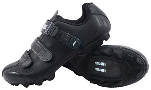 LUCK Zapatillas de Ciclismo MTB OD�N con Suela de Carbono y Cierre milimétrico de precisión. (44 EU, Negro)