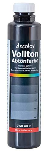 Decotric Decolor Abtönfarbe Schwarz, 750ml, 4007955904014