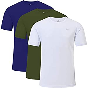 Men's Workout Shirts Casual Shirts Quick Dry T-Shirts Short Sleeve Athletic Shirts