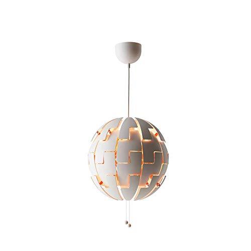 Chandelier de granja Botón de empuje Interruptor ARCHANTELIER ABS + PLÁSTICO + HERRAMIENTO Equipo de iluminación de bombilla de ahorro de energía Adecuado for barra de techo Sala de estar Mesa de come