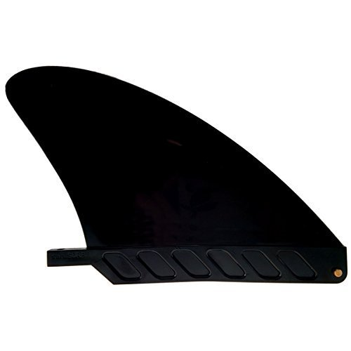 US box center stubby fin hard 4.6' for River SUP / longboard / airSUP / saruSURF - Black by saruSURF