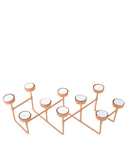 Present Time Harmonica Photophore en métal Marron caramel mat 49 x 16 x 12,5 cm