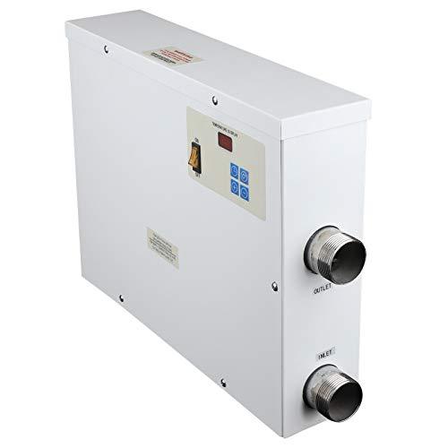 Elektrischer Pool-Warmwasserbereiter, 11 kW/380 V-Thermostat Automatischer elektrischer Premium-Warmwasserbereiter, Intelligente Temperaturregelung Upgrade-Poolheizung für Whirlpool-Whirlpool