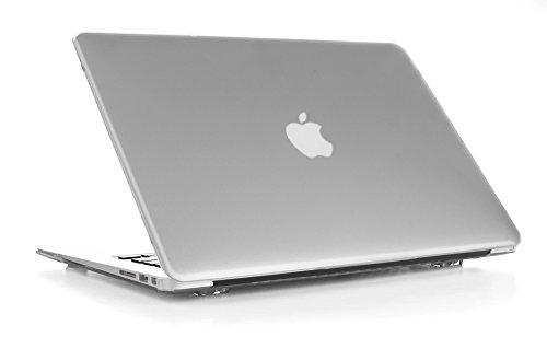 mCover hochwertigem Polycarbonat Hülle Schutzhülle Notebooktasche Hard - Shell - Case Tasche Etui für Apple Macbbok Air 13 Zoll (Modell A1466 & A1369) - Gefrostet Transparent