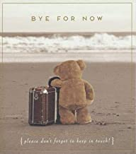 Greeting Card (PIG1854) - Leaving/Goodbye - Bye for Now - Teddy Bear and Suitcase - Love Unlimited Range - Foil Finish