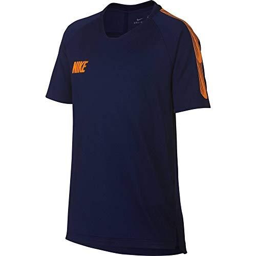 Nike Jungen B NK BRT SQD TOP SS 19 T-shirt, Schwarz (Black/Ember Glow), L