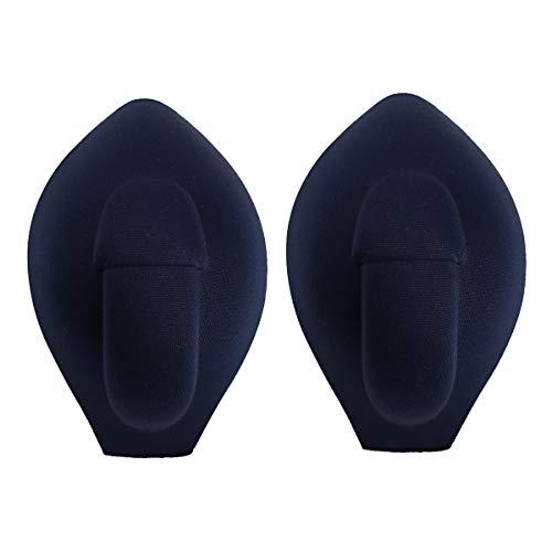 dPois Herren Penis Pads Push Up Vergrößerung Bulge Pouch Abnehmbar Atmungsaktiv für Unterhose Badehose Unterwäsche Marineblau One Size