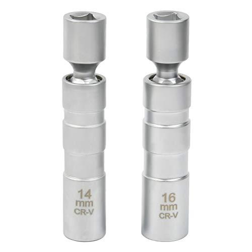 "\""N/A\"" 2 Stück Universal Flexibel Zündkerzenschlüssel Magnetisch Zündkerze Steckschlüssel Entferner Installer Werkzeug"