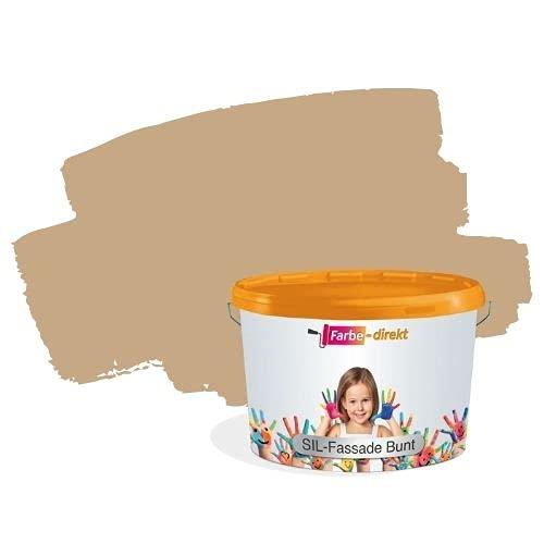 Hausfarbe Beige Braun Farbe-Direkt Fassadenfarbe Siloxan Sil Fassade bunt 10,0 Liter Lehm 3 Aussen Günstig