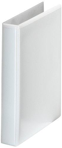 Esselte 46571 Ringbuch Präsentation, mit Taschen, A5, PP, 2 Ringe, 25 mm, weiss