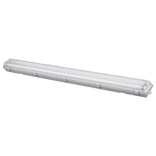 SHADA 2400203 LED Leuchte mit Röhre 120cm 2x 18W IP65, Grau
