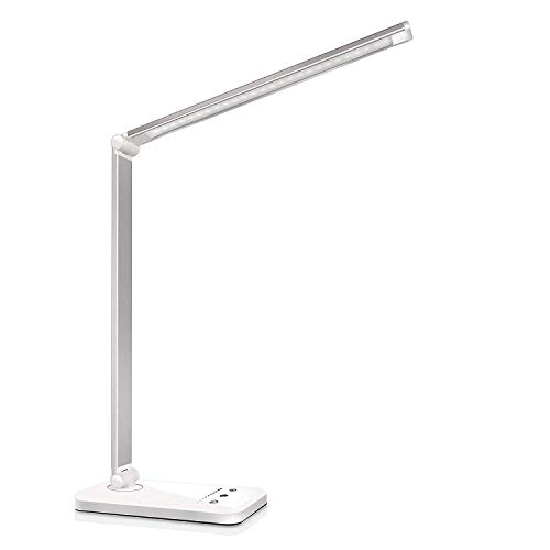 Lampada da Scrivania LED Protezione Degli Occhi, lampada Touch Control Pieghevole per cameretta,ufficio, con porta di ri