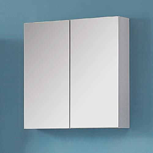 AICA Spiegelschrank Weiß 60 cm breit Wandspiegel Hängeschrank mit DREI Schichte