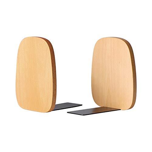 Muso Wood Buchstützen Unterstützung für Regale, dekorative Buchenden für schwere Bücher / Bürodateien / Magazin 140 mm x 120 mm x 108 mm (Buchenholz)