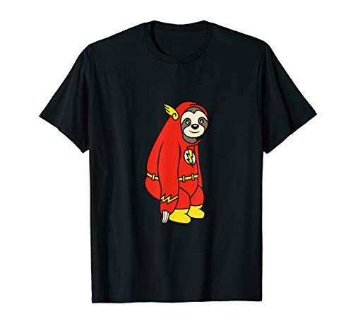 Flash Faultier Shirt im Kostüm Kinder Herren Damen T-Shirt