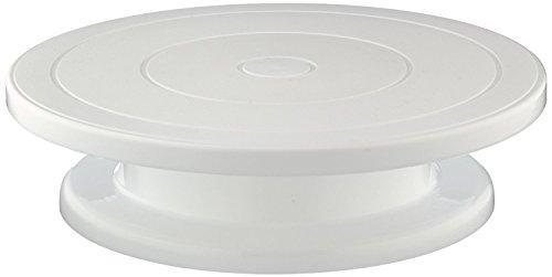 Supporto girevole per decorazione di torte, diametro 28 cm | Porta torta bianco | Pasticceria dolci by RIVENBERT