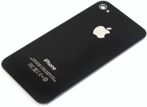 Vetro Posteriore Coperchio Cover Apple iphone 4 Nero ( Non Adatto ad iPhone 4S ! )