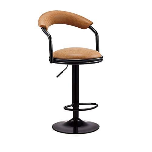 WGZ- Bar stol, snurrstol, barnstol, bar stol, ryggstöd, hem, reception stol, bar stol, avföring mode (Color : Orange, Size : High)