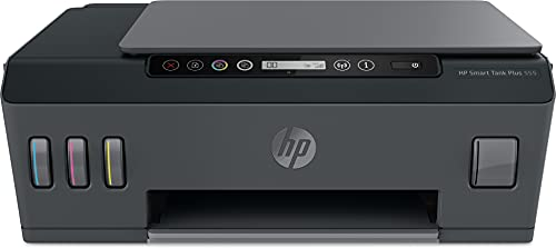 HP Smart Tank Plus 555 drukarka wielofunkcyjna drukarka, skaner, kopiarka, Wi-Fi, AirPrint, 3 w 1, z tuszem Do 3 lat