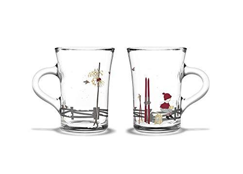 Rosendahl Lot de 2 tasses en verre Thème Noël