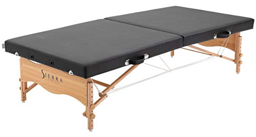 SierraComfort Sierra Comfort Low-Level Portable Massage Table (Black), SC-1004