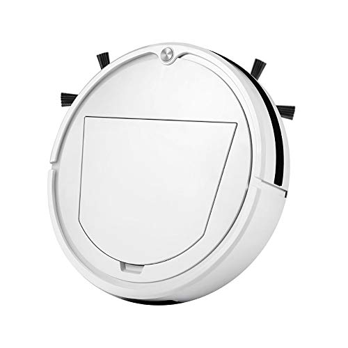 Check Out This Robotic Vacuum Cleaner Household Intelligent Sweeping Robot Strong Suction Power 90 Minutes Running Time One-Touch Start Super Quiet for Pet Hairs, Hard Floor
