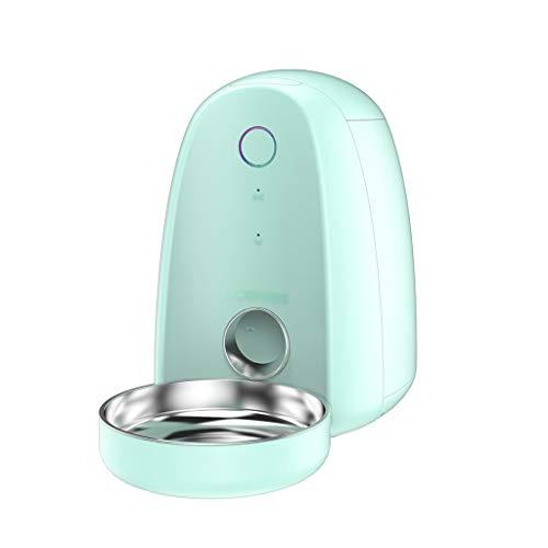 Hunde Katzen Lebensmittel-Dispenser automatische Haustier-Zufuhr-Wasser-Zufuhr Timer Voice Recorder WiFi Smart Phones App Steuerung Medium (Color : Green)
