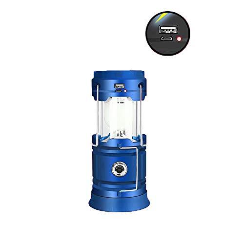 Big Bargain Store lumière de Camping adapté pour: randonnée, Camping, Urgence, ouragan, Panne de Courant-Super-lumière vive Lanterne LED Haute luminosité Pliable Blue