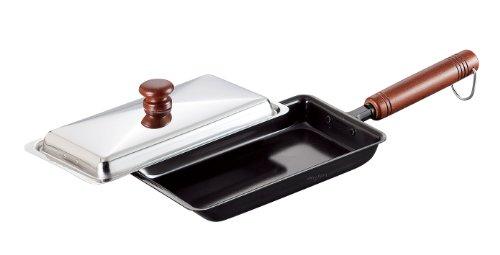 和平フレイズ フライパン 餃子鍋 12×22cm 蓋付 IH対応 鉄 日本製 燕三 EM-8909