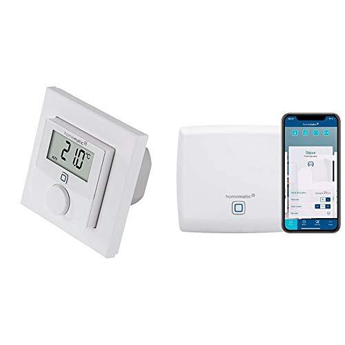 Homematic IP Wandthermostat mit Schaltausgang – für Markenschalter, 150628A0 & Access Point - Smart Home Gateway mit kostenloser App und Sprachsteuerung über Amazon Alexa