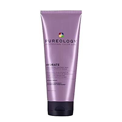 Pureology Hydrate Superfood Treatment Hair Mask   For Dry, Color Treated Hair   Silicone-Free   Vegan