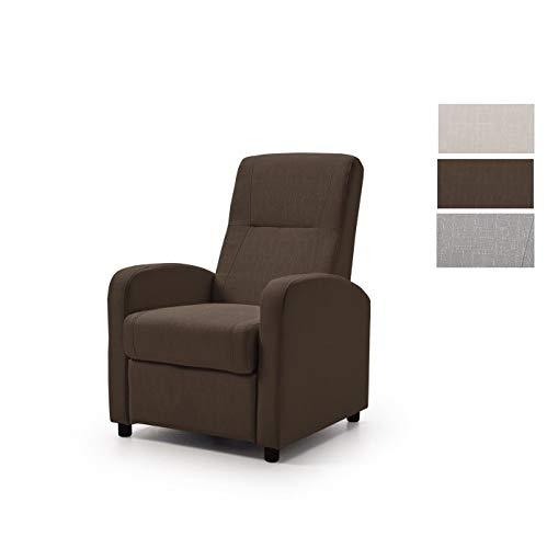 Home Heavenly -Butaca, sillón Relax MANOLA, Sistema reclinable Manual, cómodo y Elegante, marrón