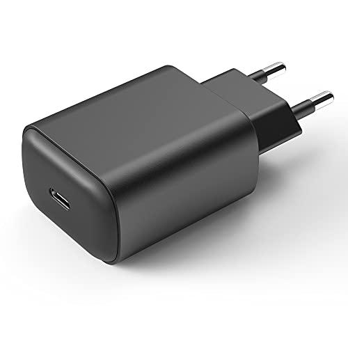 Niluoya 25W Cargador USB C, Enchufe Carga Rapida Fast Charger Tipo C Adaptador Corriente para Samsung Galaxy S21/ S21+/ S21 Ultra 5G, S20/ S20+/ S20 Ultra, Note 20/20 Ultra/ 10, A71/ A70