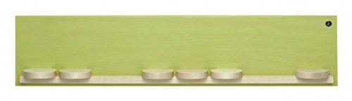 Wendt & Kühn 551/k/gruen Wandpräsentation mit sieben Schiebetellern klein, grün 50 x 11 x 5,5 cm