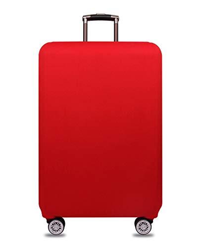 Elástico Funda Protectora de Maleta Luggage Protective Cover, Viaje Equipaje Cubierta Carretilla Caso Protectora Cubierta Cabe 18-32 Pulgadas Equipaje (China roja, S)