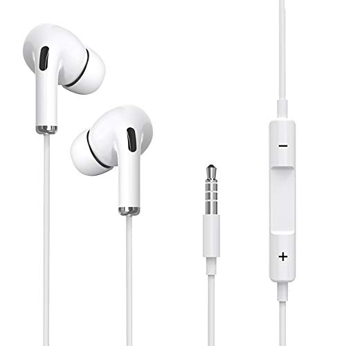Earbuds, Wired Earbuds, High Definition Earphones, Noise Isolating in Ear Headphones, Deep Bass, Crystal Clear Sound, Compatible with iPhone, iPad, Samsung, Sony, Tablets and Android Smartphones